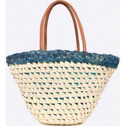Answear - Torebka City Jungle. Szare torebki klasyczne damskie marki ANSWEAR, z materiału, duże. W wyprzedaży za 79,90 zł.