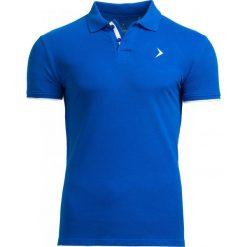 Koszulka polo męska TSM610 - niebieski - Outhorn. Niebieskie koszulki polo marki Outhorn, na lato, m, z bawełny. W wyprzedaży za 39,99 zł.