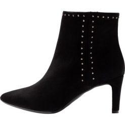 Unisa KANETO Ankle boot black. Czarne botki damskie skórzane marki Unisa. Za 649,00 zł.