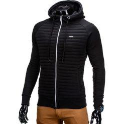 BLUZA MĘSKA ROZPINANA Z KAPTUREM B637 - CZARNA. Czarne bluzy męskie rozpinane marki Ombre Clothing, m, z bawełny, z kapturem. Za 49,00 zł.