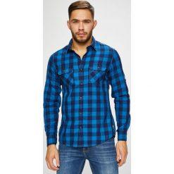 S. Oliver - Koszula. Niebieskie koszule męskie na spinki S.Oliver, l, w kratkę, z bawełny, z klasycznym kołnierzykiem, z długim rękawem. Za 219,90 zł.