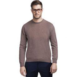 Sweter PIETRO L SWK000063. Brązowe swetry klasyczne męskie Giacomo Conti, l, z bawełny. Za 199,00 zł.