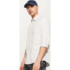 Koszule męskie: Koszula w drobny deseń – Biały