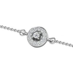 Bransoletki damskie na nogę: Złota bransoletka z diamentami