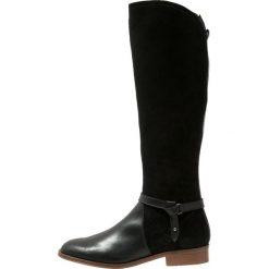 KIOMI Kozaki nero. Czarne buty zimowe damskie KIOMI, z materiału. Za 509,00 zł.