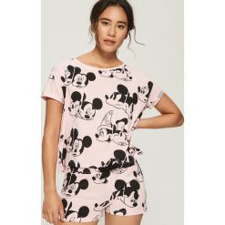 Dwuczęściowa piżama Mickey Mouse - Różowy. Czerwone piżamy damskie Sinsay, l, z motywem z bajki. Za 49,99 zł.