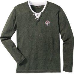 Swetry męskie: Sweter Regular Fit bonprix oliwkowy melanż