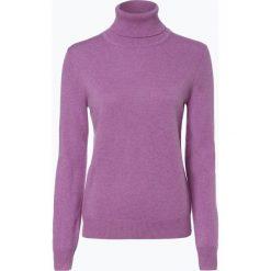 Franco Callegari - Sweter damski z czystego kaszmiru, lila. Zielone swetry klasyczne damskie marki Franco Callegari, z napisami. Za 579,95 zł.