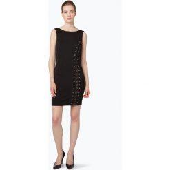 Guess Jeans - Sukienka damska, czarny. Czarne sukienki balowe Guess Jeans, l, z jeansu, ze sznurowanym dekoltem, z krótkim rękawem, mini. Za 279,95 zł.