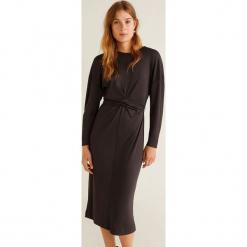Mango - Sukienka Tis. Szare długie sukienki marki Mango, na co dzień, l, z tkaniny, casualowe, z dekoltem halter, na ramiączkach, rozkloszowane. Za 139,90 zł.