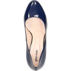 Czółenka FRIDA. Niebieskie buty ślubne damskie Gino Rossi, z lakierowanej skóry, na wysokim obcasie. Za 299,90 zł.