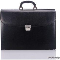 Teczka męska Paolo Peruzzi na laptopa 908-pp. Czarne aktówki męskie Pakamera, ze skóry. Za 179,00 zł.