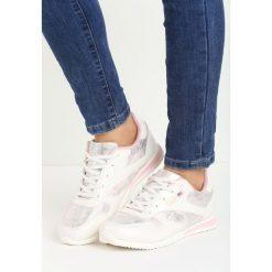 Buty sportowe damskie: Biało-Różowe Buty Sportowe Riella
