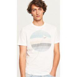 T-shirty męskie: T-shirt z graficznym nadrukiem - Biały