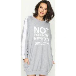 Bluzy rozpinane damskie: Szara Bluza Impossible