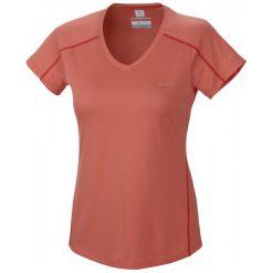 Columbia Koszulka Sportowa Zero Rules Short Sl. Shirt Hot Coral S. Szare topy sportowe damskie marki Columbia, z dzianiny. Za 83,00 zł.