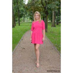 Sukienki: Sukienka z falbanką rozkloszowana fuksja