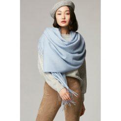 Szaliki damskie: Szal w kolorze jasnoniebieskim - (D)180 x (S)70 cm