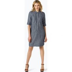 Opus - Lniana sukienka damska – Willmar, niebieski. Niebieskie sukienki Opus, z tkaniny, koszulowe. Za 349,95 zł.