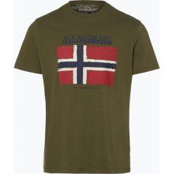 T-shirty męskie: Napapijri - T-shirt męski, zielony