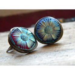 Biżuteria i zegarki: opalizujące kwiaty – klipsy