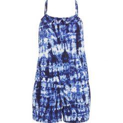 Kombinezon kąpielowy bonprix batikowy niebieski - biały. Niebieskie kombinezony z printem bonprix. Za 129,99 zł.