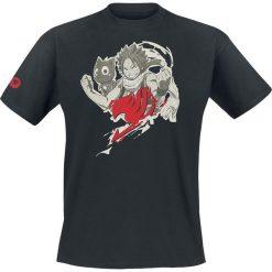 T-shirty męskie z nadrukiem: Fairy Tail Natsu Cloud T-Shirt czarny