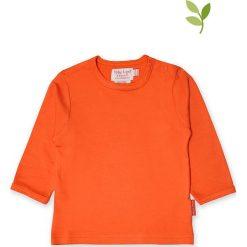 Koszulka w kolorze pomarańczowym. Brązowe bluzki dziewczęce bawełniane Toby Tiger, z okrągłym kołnierzem, z długim rękawem. W wyprzedaży za 42,95 zł.
