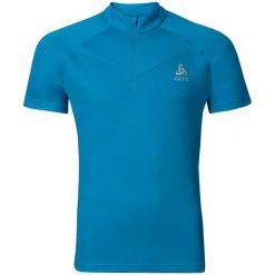 Odlo Koszulka s/s 1/2 zip VIRGO niebieska r. L (347952). Niebieskie topy sportowe damskie Odlo, l. Za 169,95 zł.