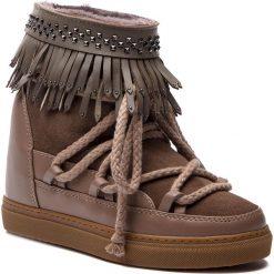 Buty zimowe damskie: Buty INUIKII - Sneaker Fringes 70203-29 Taupe