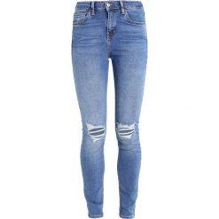 Topshop JAMIE NEW Jeans Skinny Fit blue. Niebieskie jeansy damskie marki Topshop, z bawełny. Za 229,00 zł.