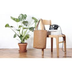 Shopper XL torba ruda na zamek / rdzawa na zamek. Brązowe shopper bag damskie Pakamera, na ramię. Za 155,00 zł.