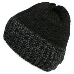 Czapka męska czarna (CZ 166C). Czarne czapki zimowe męskie Proman. Za 36,18 zł.