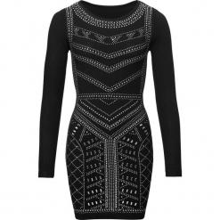 Sukienka na party bonprix czarny. Czarne sukienki balowe marki bonprix, na imprezę, z aplikacjami. Za 189,99 zł.
