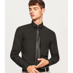 Koszula super slim fit - Czarny. Czarne koszule męskie slim marki Reserved, m. Za 99,99 zł.