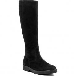 Oficerki GABOR - 91.609.17 Schwarz. Czarne buty zimowe damskie marki Gabor, z materiału, przed kolano, na wysokim obcasie, na obcasie. W wyprzedaży za 469,00 zł.