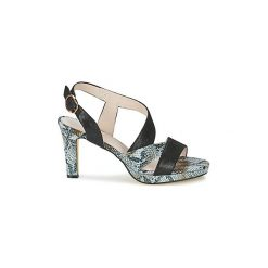 Sandały Metamorf'Ose  RAUCAM. Czarne sandały trekkingowe damskie Metamorf'Ose, na platformie. Za 311,20 zł.