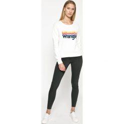Wrangler - Bluza. Szare bluzy z nadrukiem damskie Wrangler, l, z bawełny, bez kaptura. W wyprzedaży za 179,90 zł.