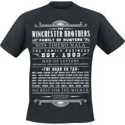 Supernatural Winchester Brothers T-Shirt czarny. Czarne t-shirty męskie z nadrukiem Supernatural, l, z okrągłym kołnierzem. Za 74,90 zł.