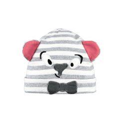 Barts  Czapka Leelo Beanie heather grey - Gr.45 cm. Brązowe czapeczki niemowlęce marki Barts, w kolorowe wzory, z bawełny. Za 49,50 zł.
