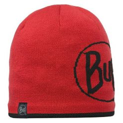 Czapki męskie: Buff Czapka Knitted & Polar Logo Red Czerwona