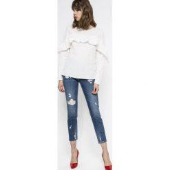 Vila - Bluzka Jenner. Szare bluzki z odkrytymi ramionami marki Vila, m, z bawełny, casualowe, z okrągłym kołnierzem. W wyprzedaży za 69,90 zł.