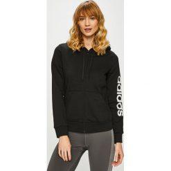 Adidas Performance - Bluza. Czarne bluzy z kapturem damskie marki adidas Performance, m, z nadrukiem, z bawełny. Za 199,90 zł.