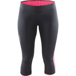 Bryczesy damskie: Craft Spodnie sportowe damskie Prime Capri czarno-różowe r. XS (1903179-9478)