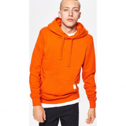 Bluza BASIC z kapturem - Pomarańczowy. Brązowe bejsbolówki męskie Cropp, l, z kapturem. Za 79,99 zł.