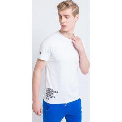 T-shirty męskie z nadrukiem: T-shirt męski TSM235 – biały