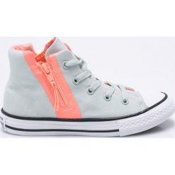 Converse - Trampki dziecięce. Szare buty sportowe dziewczęce marki Converse, z materiału, na sznurówki. W wyprzedaży za 179,90 zł.