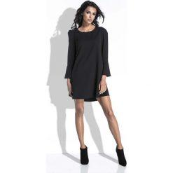 Czarna Sukienka Mini o Linii A z Dekoltem na Plecach. Czarne sukienki balowe marki Molly.pl, na co dzień, l, z dekoltem na plecach, mini, rozkloszowane. Za 164,90 zł.