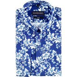 Koszula SIMONE slim KDNS000398. Czarne koszule męskie na spinki marki Giacomo Conti, m, z bawełny, z klasycznym kołnierzykiem. Za 199,00 zł.