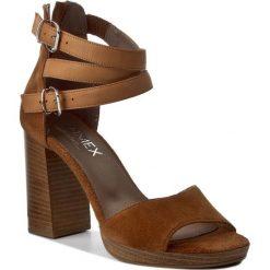 Rzymianki damskie: Sandały ANN MEX – 8025 12BS+12S Brąz